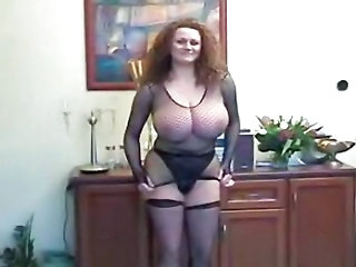 Big Tits Fishnet MILF Panty Stockings Vintage
