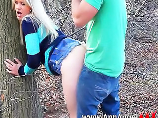 Amateur Clothed Doggystyle Girlfriend Outdoor