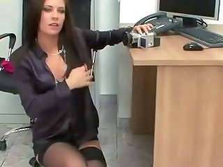 Amazing MILF Office Secretary Stockings