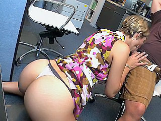 Ass Blowjob Bus Office Panty Secretary
