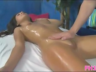 Gorgeous 18 year old cuteie gets fucked hard by her massage therapist