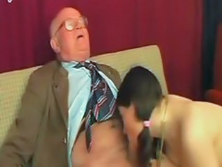 Blowjob Daddy Old and Young Teacher Teen