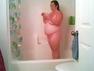 Amateur Bathroom BBW Homemade Mom SaggyTits