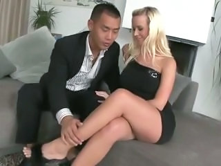 Amazing Blonde Interracial MILF Pornstar