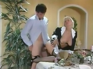 Amazing Maid MILF Pornstar Stockings Vintage
