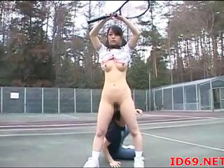 Asian Cute Outdoor Public Sport Teen