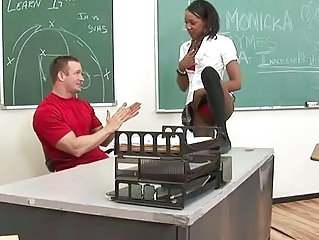 Ebony Interracial Old and Young School Student Teacher Teen