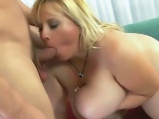 BBW Big Tits Blonde Blowjob MILF Natural Wife