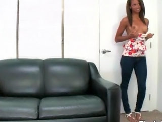 Amateur Casting Ebony Stripper Teen