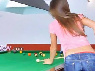 The most erotic woman superior to before billiards
