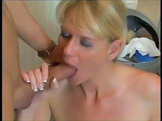 Big cock Blowjob European German Mature