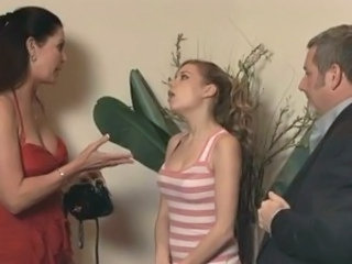 Babysitter Old and Young Teen Threesome Wife