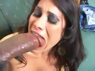 Big cock Blowjob Interracial Latina MILF