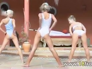 Dancing Erotic Teen Threesome