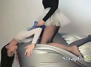 Clothed Lesbian Pantyhose Strapon Teen Young