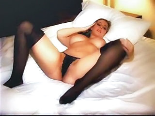 Big Tits European French MILF Panty Stockings