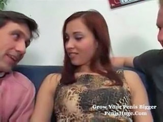 Cash European Teen Threesome