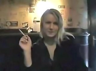 Amateur Girlfriend Public Smoking