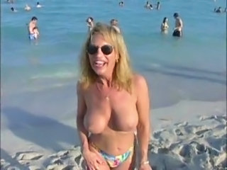 Amateur Beach Big Tits MILF Outdoor Public