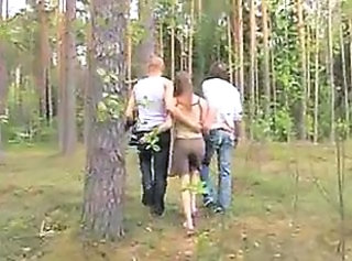 Amateur Outdoor Teen Threesome