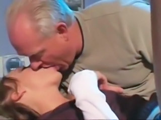 Daddy Kissing Old and Young Teen