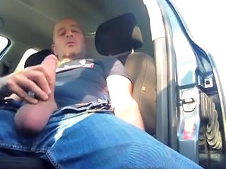 Smoking and Jerking in car