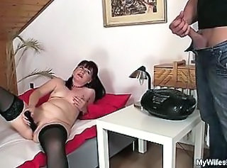 Chubby Mature Mom Old and Young Stockings Toy