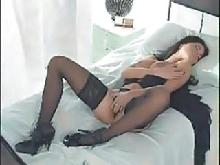 Amazing Babe Masturbating Stockings