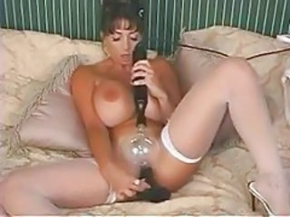 Naked fake tits chick electro play and dildo sex tubes