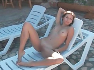 Babe Outdoor Shaved Small Tits Teen