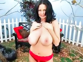 Babe Big Tits Brunette Chubby Cute Natural Panty SaggyTits