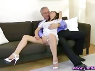 Amateur British European Old and Young Teacher Teen