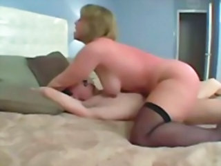 Chubby Hardcore MILF Mom Riding Stockings