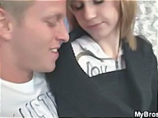 Cheating blonde wife uses her big tits for a titjob and gets hammered