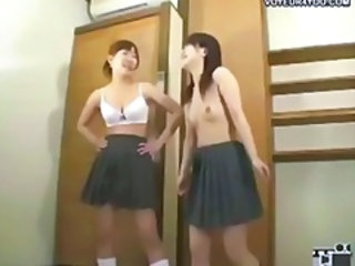 Asian Skirt Teen Voyeur