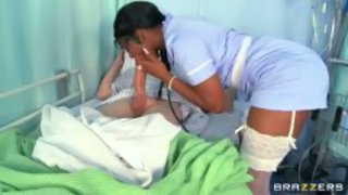 Big cock Blowjob Clothed Ebony Interracial Nurse Uniform