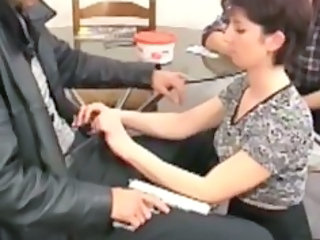 European French Handjob MILF