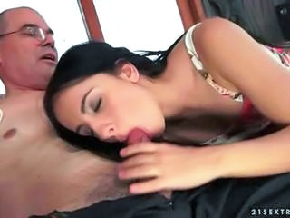 Blowjob Cute Daddy Daughter Old and Young Small cock Teen