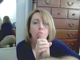 older  blonde fresh munches his dick pov and