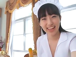 Asian Cute Maid Softcore Teen Uniform