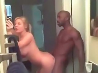 Amateur Bathroom Doggystyle Interracial