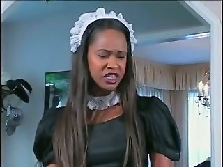 Ebony Man Maid Teen Uniform