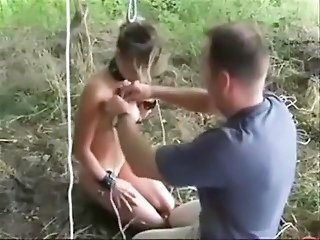Amateur Outdoor Slave