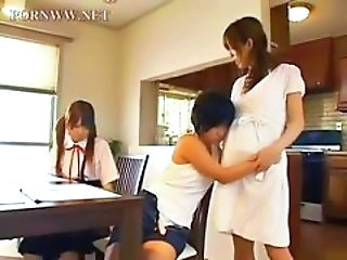 Asian Family Japanese Threesome