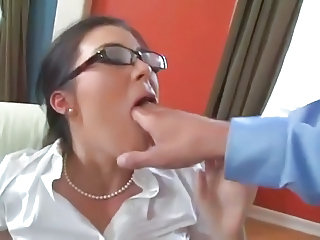 Glasses Hardcore MILF Secretary