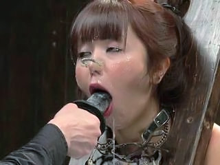 asian daughter and nasty bdsm things with hitachi magic wand