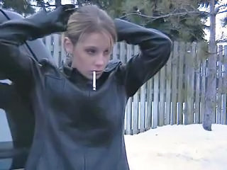Amateur Outdoor Smoking Teen