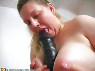 BBW Big Tits Dildo Mature Natural Toy