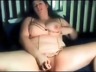 BBW Lingerie Masturbating Toy Webcam
