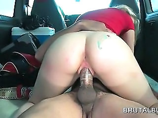 Ass Blonde Car Hardcore Riding Teen